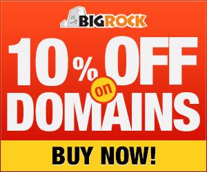 Bigrock Domain offer